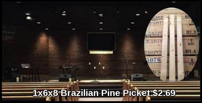 1x6x8 Brazilian Pine